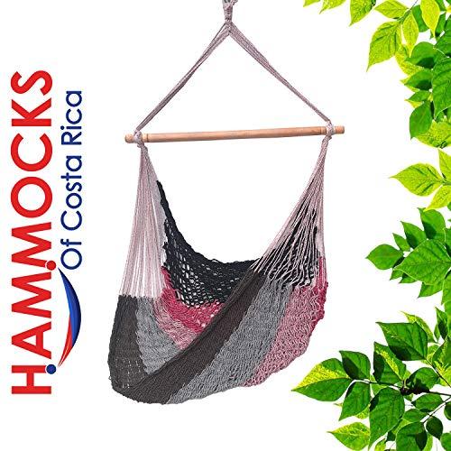 Handmade Hanging Hammock Chair with Spreader Bar for Yard, Bedroom, Porch, Indoor/Outdoor HCR-2211-125
