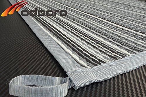 Schlauchland Zeltteppich ´´´odooro WAVETEX Stripe 2,7m x 4m *** 400 g/m² Outdoor Teppich Vorzelt Teppich Garten Spieldecke