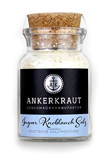 Ankerkraut Ingwer Knoblauch Salz, mit Meersalz, 160g im Korkenglas