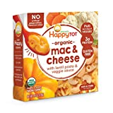 Happy Tot Organics Love My Veggies, Mac and Cheese with Lentil Pasta and Veggie Sauce, 4.5 Ounce Pouch (Pack of 8) packaging may vary