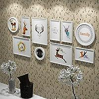 LXD フレーム、装飾的な写真の壁の装飾シンプルな組み合わせ小新鮮な絵モダンな壁壁創造的な人格リビングルーム写真の壁,D