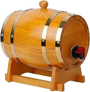 HWhome Couleur du Bois Tonneau en Chêne,Distributeur Alcool,Fûts De Chêne Vintage De 3L/5L/10 /15L/20L/30L for Conserver O...