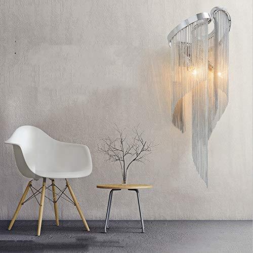 LCSD Luces de pared nórdico lujo con flecos cadena lámpara de pared tamaño 23 cm* 68 cm lámpara iluminación restaurante villa dormitorio estudio hotel luz cálida