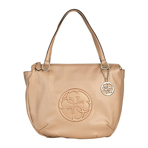 Guess Handtasche Large Satchel Korry Crush HWMG6538100 Champagne