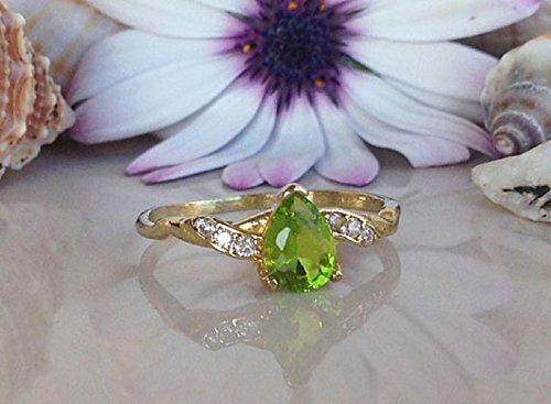 Peridot ring  silver and peridot ring  peridot jewelry  apple green  August birthstone  custom peridot  ready to ship  gift