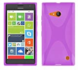 Cadorabo Case works with Nokia Lumia 730 in PASTEL PURPLE -