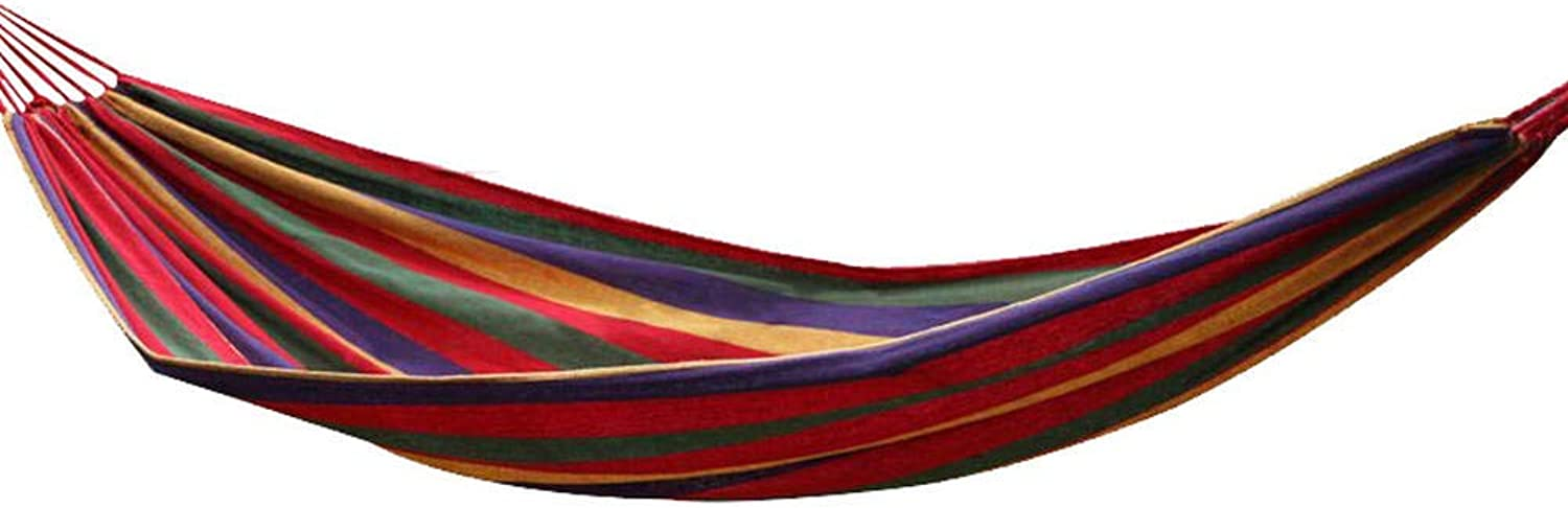 Hammock Sleeping Bag Cool Outdoor Portable Hanging Sheets People Swing Bed Camping Leisure Double Hammock Indoor and Outdoor Canvas 280  80