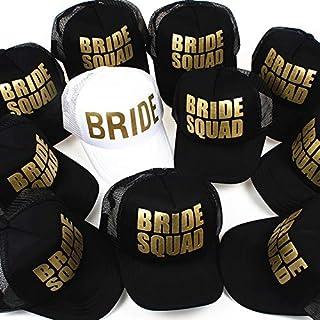 BEESCLOVER Bride Wedding Baseball Cap Gold Print Mesh Hat Women Party Brand Bachelor Club Team Bride Squad Snapback Caps Beach Casquette