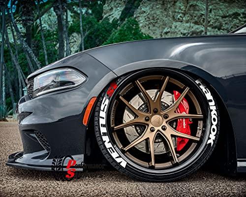 Ps1 HANKOOK Ventus S1 - Juego de pegatinas para neumáticos (4 unidades, goma, 8 unidades, 14-22 pulgadas)
