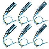 Ubit PCI-E Riser,Powered Riser Adapter Card,6PIN PCI-E zu SATA Stromkabel, Riser Karte für Bitcoin/Litecoin/ETH Coin