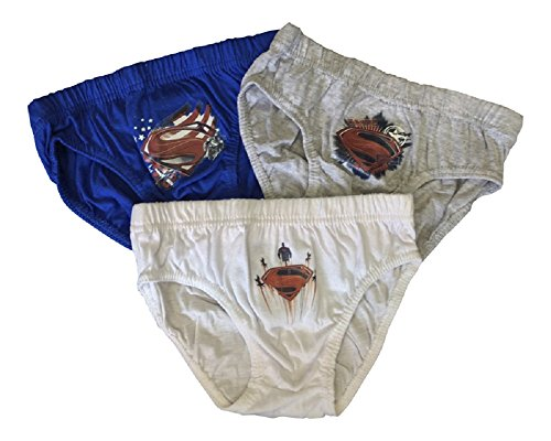 Steelman24 Superman - 3 Paar Jungen Slips aus 100% Baumwolle - 3 Größen Gr. 104, verschieden