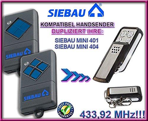 SIEBAU (mini 401 , 404) . 433.92 MHz Kompatibel Handsender, Ersatz sender (Fixed code)