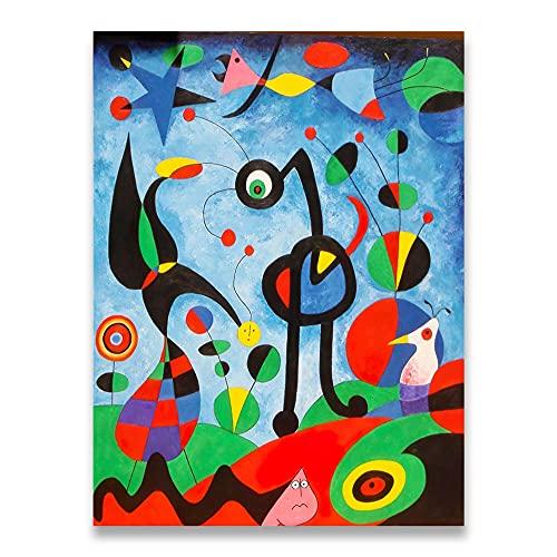 1925 por Joan Miro Famosos Artwork Poster Abstracto De La Lona Arte Pinturas De Joan Miro Decoracion Marco De La Pared Cuadros Inicio Corredor Pared 50x70cm No