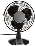 Honeywell HT109E Ventilateur de Table Oscillant Noir/Argent