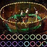 LHYAN 39FT Trampolinlichter, Fernbedienung Trampolin-Rim-LED-Licht für Trampolin, 16 Farbwechsel, wasserdicht, Spielen nachts
