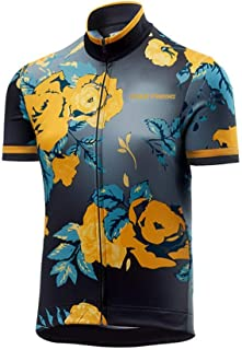 Uglyfrog Men Short Sleeve Cycling Jersey Kit Suits Bike/Racing/MTB/Triathlon Clothing Cycling Bib Shorts with Gel Padded UKH19DJ01