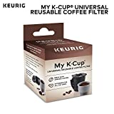 Keurig My K-Cup Universal Reusable Ground Coffee Filter, Compatible with All Keurig K-Cup Pod Coffee Makers (2.0 and...