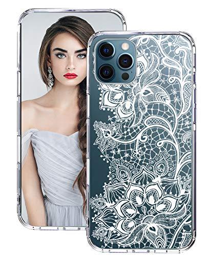 Funda protectora para iPhone 12 Pro Max, de silicona, fina, transparente, con purpurina, 360 grados, para iPhone 12 Pro Max Clear