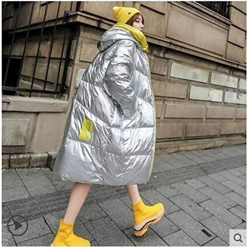 DPKDBN Down Jacket, Silver donsjack vrouw winter nieuwe dikker outwear lange capuchon los buiten houden warme jassen vrouwelijke