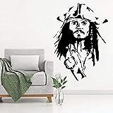 HNXDP Capitaine Jack Sparrow Tête Cool Sticker Affiche Vinyle Sticker Mural Pirates Maison Chambre...