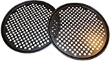 Pack of 2 Pizza Pans with holes 13 inch - Professional set for restaurant type pizza at home grill...