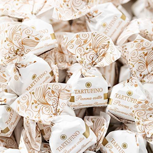 Tartufini Panna Cotta g 500 Antica Torroneria Piemontese - Senza Glutine - Cioccolatini morbidi con Cioccolato Bianco, Panna Cotta e Nocciola IGP Piemonte (35%)