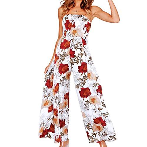 FRAUIT Dames elegante lange jurk overall oversized bloemenstickereen mouwloos V-hals overall Romper Jumper nonchalante Pint Harem Pants losse broek jumpsuit