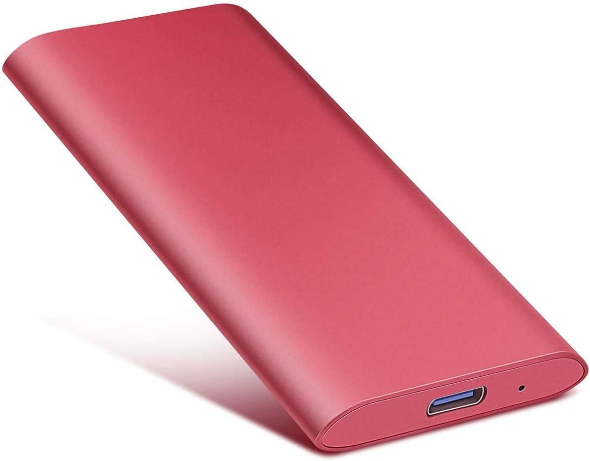 Portable Hard Drive 1TB 2TB USB3.1 Hard Drive Compatible with Mac, PC, Desktop, Laptop, MacBook, Chromebook 2TB-Red (2TB-YOP-C4)