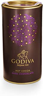 Godiva Chocolatier Dark Chocolate Hot Cocoa Canister, Hot Chocolate Mix, Gourmet Hot Cocoa, Great as a Gift, 10 Servings, 13 Oz