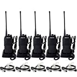 Retevis RT1 Walkie Talkies for Adults,Long Range Rechargeable Two Way Radios,High Power,Rugged,3000mAh Battery,Emergency 2 Way Radios with Earpiece(5 Pack)