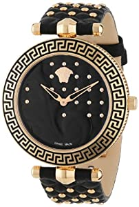 Versace Women's VK7030013 'Vanitas' Rose Gold Ion-Plated Watch with Interchangeable Leather Band image
