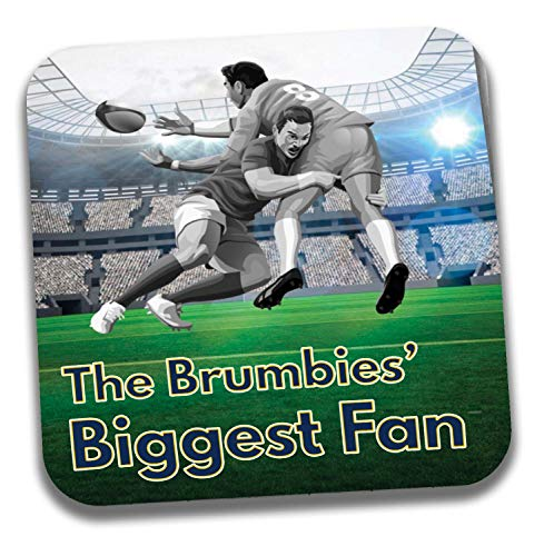The Brumbies Biggest Fan Rugby Untersetzer – Geburtstagsgeschenk/Strumpffüller