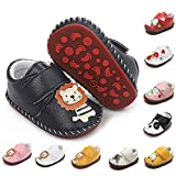 BEBARFER Baby Boys Girls Shoes Cartoon Crawling Slippers Soft Moccasins Toddler Infant Crib Pre-Walkers First Walkers Shoes Sneakers (P-Navy Lion, 6-12 Months)