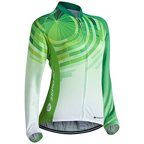 Donne Abbigliamento da Ciclismo, Traspirante Leggero e Comodo Maglie da Ciclismo, Asciugatura Rapida Manica Lunga, L, 003