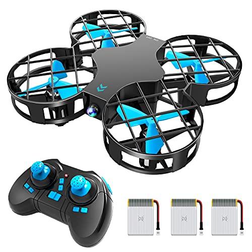 H823H Mini Drone per Bambini, Funzione Lancia&Vola, Funzione Hovering, Modalità Senza Testa, Rotazione a 360°, Decollo / Atterraggio a Un Pulsante, Velocità Regolabile