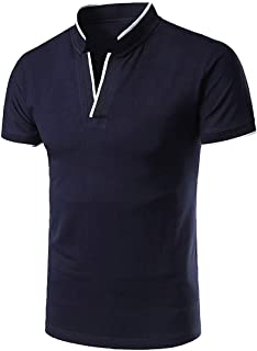 WSPLYSPJY Men's Basic Casual Slim Fit Polo T-Shirts Designed Polo T-Shirt