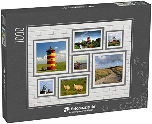 fotopuzzle.de 1000 Teile Puzzle Collage Ostfriesland - klassisches Puzzle als Foto-Collage mit 7 Ostfriesland-Bildern