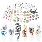 QQINGHAN 16pcs Pegatinas for uñas Imagen Abstracta Mujeres Cara Agua Sliders Manicure Nail Art Decorations Sticker Set (Color : 007-16pcs)
