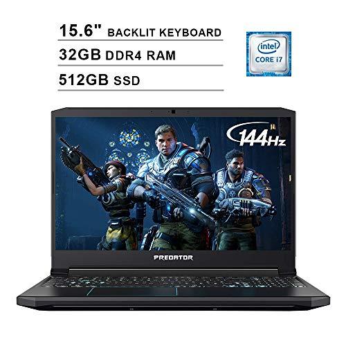 Acer 2020 Predator Helios 300 15.6 Inch FHD Gaming Laptop (9th Gen Intel 6-Core i7-9750H up to 4.5 GHz, 32GB RAM, 512GB PCIe SSD, Backlit Keyboard, NVIDIA GeForce GTX 1660 Ti, WiFi, Bluetooth, Win 10)