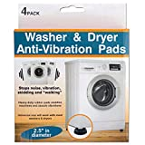Washer and Dryer Anti-Vibration Slip-Resistant Pads, 4 Piece Set