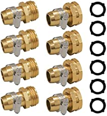"""Hourleey Garden Hose Repair Connector with Clamps, Fit for 3/4\\"""" or 5/8\\"""" Garden Hose Fitting, 4 Set"""