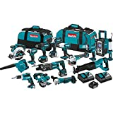 Makita XT1501 3.0Ah 18V LXT Lithium-Ion Cordless Combo Kit (15 Piece)