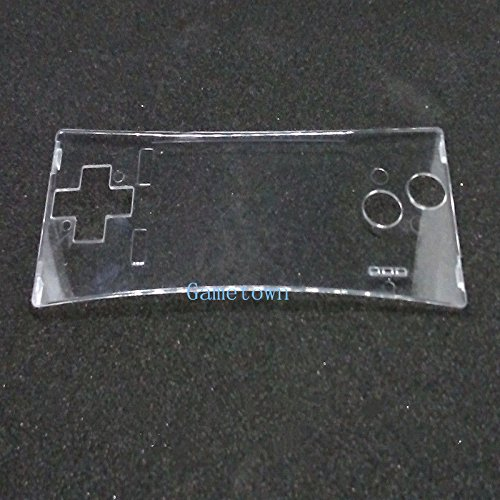 Gametown New Repair Transparent Clear Front Faceplate Case Cover Shell Part for Nintendo Game Boy Micro (GBM)