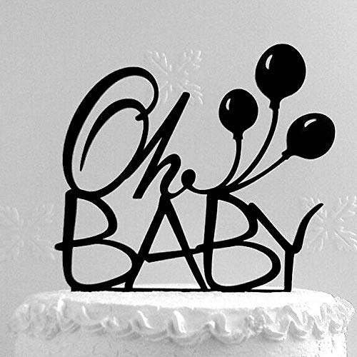 Yoin Oh Baby Verjaardag Cake Topper, Baby Douche Party Decor, Gepersonaliseerde Houten Goud Kinderen Eerste Verjaardag Feestartikelen