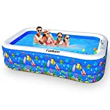 Taiker Inflatable Swimming Pools, Kiddie Pools, Family Lounge Pools, 96'' x 57'' x 21'' Large Family Swimming Pool for Kids, Adults, Babies, Toddlers, Outdoor, Garden, Backyard