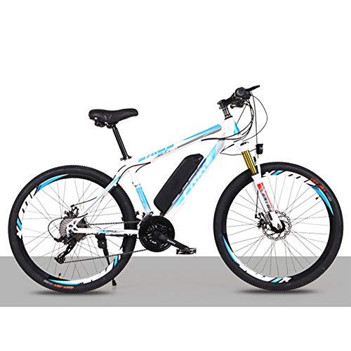 FASFSAF Bicicleta De Montaña Eléctrica para Adultos, Bicicleta Eléctrica para Adultos, Engranajes De Transmisión Profesionales De 21-30 Velocidades,B,27 Speed Flagship