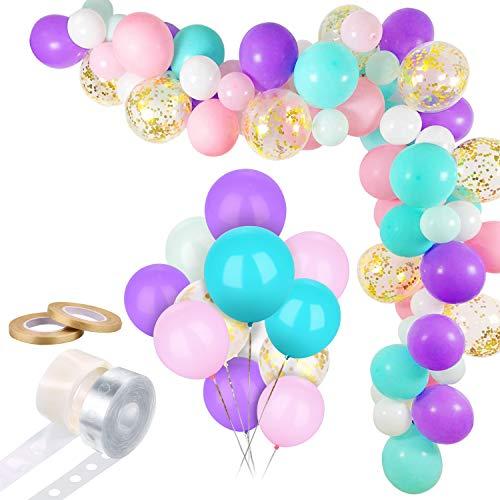 ROYBENS Kit per Ghirlanda ad Arco di Palloncini Unicorno, Ghirlanda di Palloncini per Feste a Sirena , Set di Strisce per Palloncini per Baby Shower Forniture per Feste Decorazioni di Compleanno