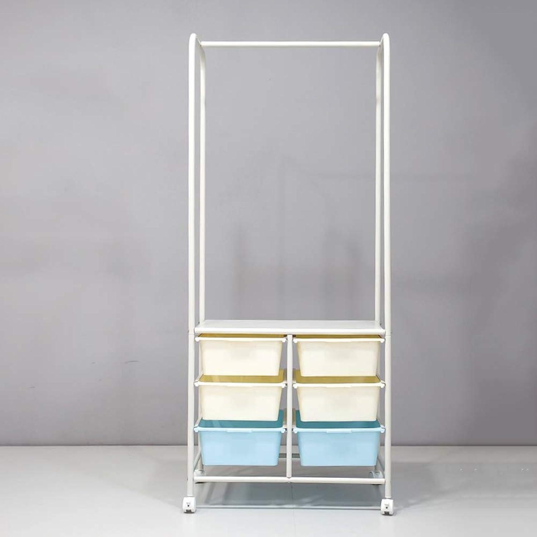 DYR Coat Hanger Multifunction Portable Coat Rack Multifunction Shelf (color  bluee)
