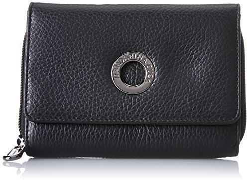 Mandarina Duck Mellow Leather Portafoglio - Portafogli Donna, Schwarz (Nero), 3.5x9.5x13.5 cm (B x H T)