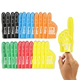 Okuna Outpost Mini Foam Fingers for Sports Events, It's Going Down, We're 1 (5.5 in, 24 Pack)